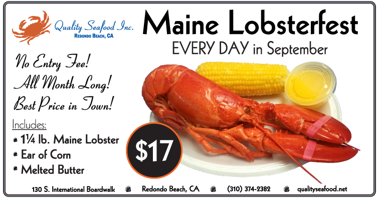 September Lobsterfest at Quality Seafood