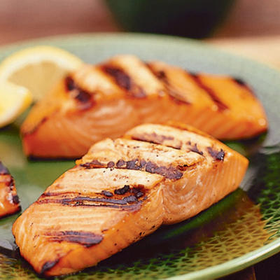 Asian grilled salmon fillet quality seafood inc for Bbq fish grill